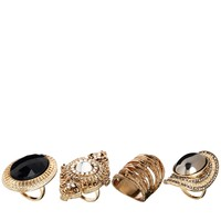 New Look Bowie Jewel Ring Pack