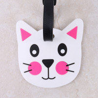 Face Cat Luggage Tag