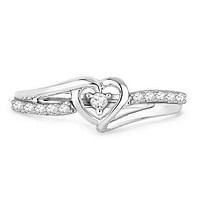Sterling Silver Infinite Heart CZ Promise Ring