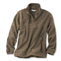 Suede-Trimmed Snap Fleece