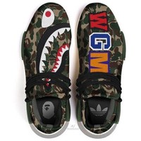Tagre™ ADIDAS Bape Shark Camouflage Trending Fashion Camouflage Casual Sports Shoes G-AA-SDDSL-KHZHXMKH