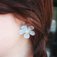 Large Flower Stud Earrings, Forget-me-not Flower Earrings, Statement Earrings, Hippy Chic Spring Fashion