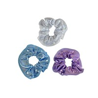 Obersee Hair Tie 3-Pack - Lavendar/Cloud/Silver Hologram