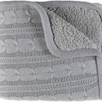 Tucker Textural Knitted Throw - Grey