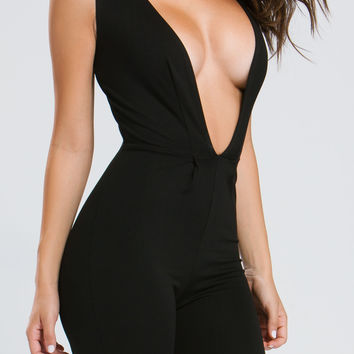 Take The Plunge Pleated Jumpsuit GoJane.com