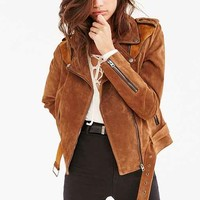 Ecote Genuine Suede Spliced Western Jacket