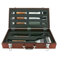 SheilaShrubs.com: Mr. Bar-B-Q 5 Piece Forged Set In Wood Carrying Case 02136X by Blue Rhino: BBQ Accessories