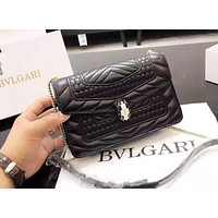 Bulgari Fashion New Women's Embroidered Chain Bag Shoulder Crossbody Bag