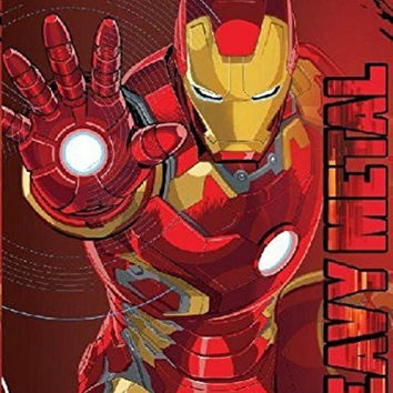 Iron Man Heavy Metal Plush Throw Blanket the Avengers 46 X 60