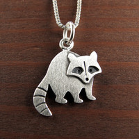 Tiny raccoon necklace / pendant