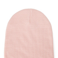 FOREVER 21 Classic Ribbed Knit Beanie Pink One