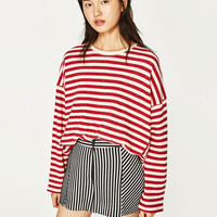 STRIPED SOFT SWEATSHIRT