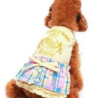 Pet new spring and summer fashion outfit pet clothes British beauty T-shirt dog clothes