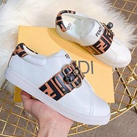 FENDI Classic Hot Sale Women Casual Leather Sports Shoes Sneakers