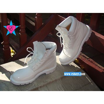 Custom White Painted Colored Timberland Boots