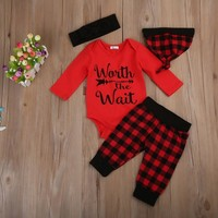 Buffalo Plaid Worth the Wait Top/Pant