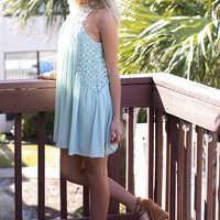 Cool Confidence Mint Lace Dress