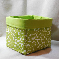 Bright Green Fabric Basket