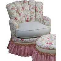 Angel Song 201421108DOWN English Bouquet Adult Princess Glider Rocker w/ Plush Down Cushion
