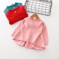2018 Hot Sale New Bibicola Children Winter Clothes Sweaters Girls Sweater Tunic Spring 0-3 Baby Sweaters Cotton Long Sleeves