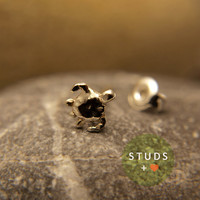 CARTILAGE sea Turtle sterling silver 6mm/ cartilage earring tragus gold tragus earring cartilage gold cartilage ring nose studs