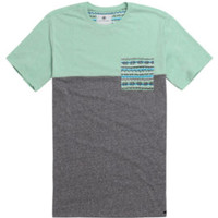 On The Byas Kevin Pieced Pocket T-Shirt - Mens Tee - Gray - Large