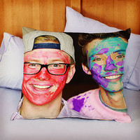 troye sivan and tyler oakley youtube on Decorative Pillow by KIDANGAN