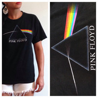 PINK FLOYD black shirt, Pink Floyd shirt, Vintage Band tees, Band T Shirts, Festival Clothing, Band Tees, Rock and Roll