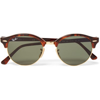 Ray-Ban - Clubmaster Round-Frame Tortoiseshell Acetate and Metal Sunglasses