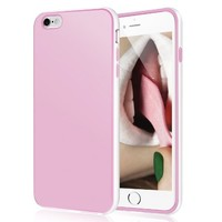 iPhone 6s Case, LoHi iPhone 6 Case Soft Touch [Ultra Slim-Fit] Shock Absorbing Scratch Resistant Flexible TPU Bumper Cover Case for Apple iPhone 6 6s - Pink White