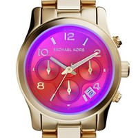 Michael Kors 'Runway' Iridescent Crystal Chronograph Watch, 39mm