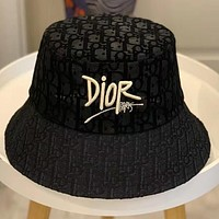 DIOR embroidered pattern letters Bucket hat Cap