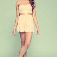 Jade & Belle - Finders Keepers - Just Good Friends Playsuit in Ballet Bow Print Nude - New Arrivals