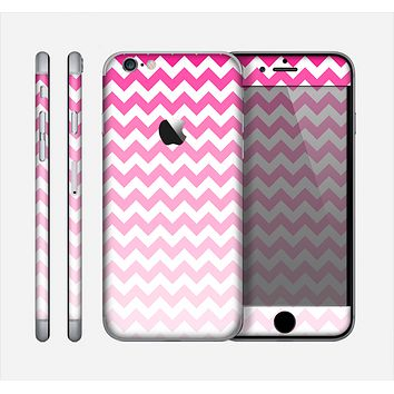 The Pink & White Ombre Chevron Pattern Skin for the Apple iPhone 6