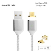 Android Fast Charging Data Cable - Braided Magnetic Micro USB