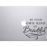 Be Your Own Kind of Beautiful Macbook Symbol Keypad Iphone Ipad Decal Skin Sticker Laptop