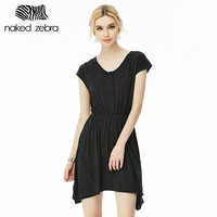 Thin And Slim Women Dress Casual Style Short Sleeve Solid Color With Button Own Brand Women Clothing