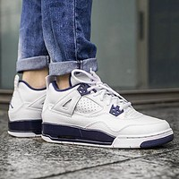 Air Jordan 4 New fashion couple sports leisure running shoes