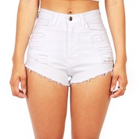 Slicker High Waist Shorts   Trendy Clothes at Pink Ice