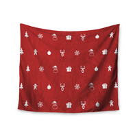 """Snap Studio """"Cheery Pattern Red"""" Maroon Wall Tapestry"""