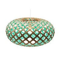David Trubridge Painted Kina Pendant Light