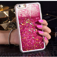For iPhone 6 Case Glitter Liquid Quicksand Star Cover Coque For iPhone 6s Plus Dynamic Bling Clear Case Capa for iPhone 6 7 Plus