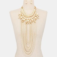 Clustered Beaded Strand Cheap Cute Necklaces