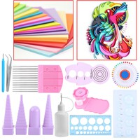 11 Pcs Paper Quilling Tools Kit  Stripes Width Assorted Color