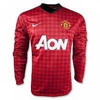 Thailand Version Manchester United 1213 LS Home Soccer Jersey