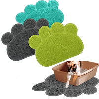 Home Decor Paw Shape Dog Placemat Puppy Pet Cat Dish Bowl Mats Food Water Mat Wipe Kitchen Tools [7668751814]