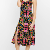 Bold Floral Print Midi Sundress from EXPRESS