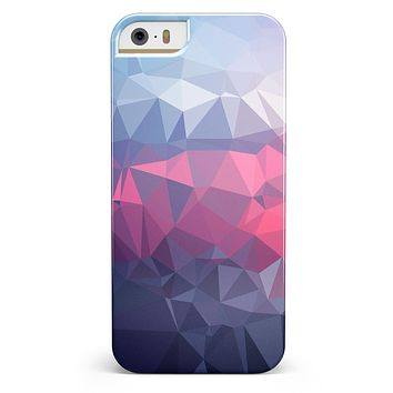Blue Red Purple Geometric iPhone 5/5s or SE INK-Fuzed Case