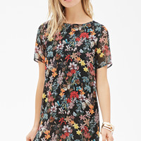 Botanical Print Shift Dress