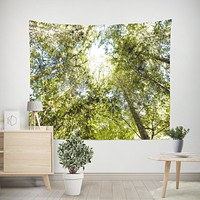 Sequoia Forest Canopy Microfiber Wall Tapestry